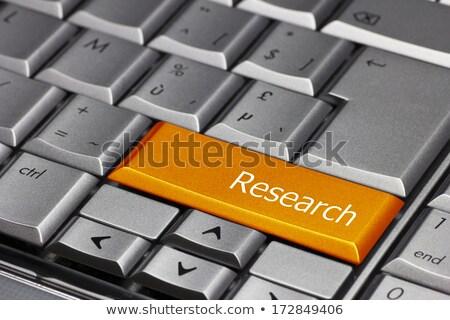 キーボード · 研究 · ボタン · オレンジ · コンピュータのキーボード · 検索 - ストックフォト © tashatuvango