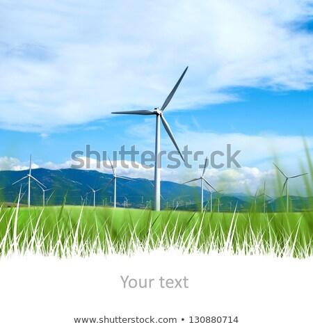 wiatrak · góry · więcej · horyzoncie · line - zdjęcia stock © hasloo
