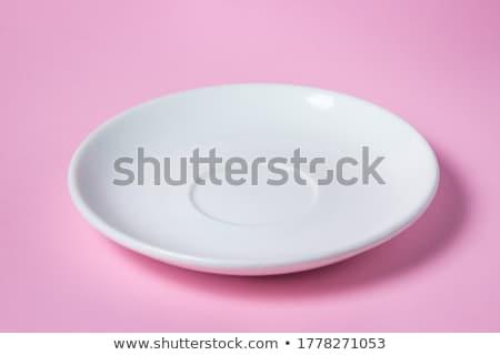 Csészealj kés edény belsőépítészet clip art Stock fotó © zzve