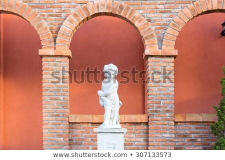 Alvenaria stonewall textura velho Espanha arquitetura Foto stock © lunamarina