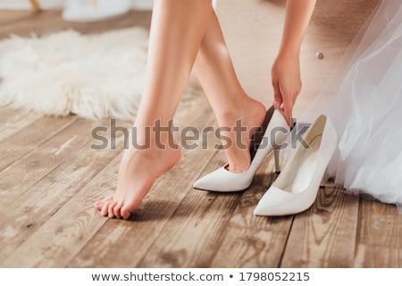 güzel · bir · kadın · ayakkabı · güzel · genç · kadın · kadın · kız - stok fotoğraf © iofoto