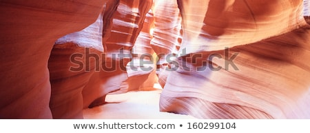 Stock photo: Panoramic view in the famous Antelope Canyon