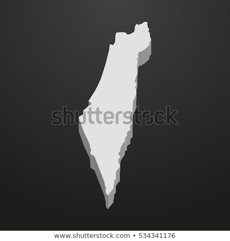 3D karakter mintázott zászló Izrael izolált Stock fotó © Kirill_M