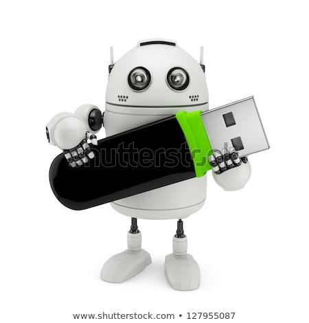 Robô usb flash drive isolado branco Foto stock © Kirill_M