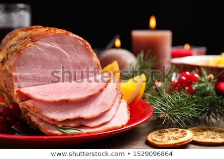 Geleneksel jambon dekore edilmiş gıda parti Stok fotoğraf © artlens