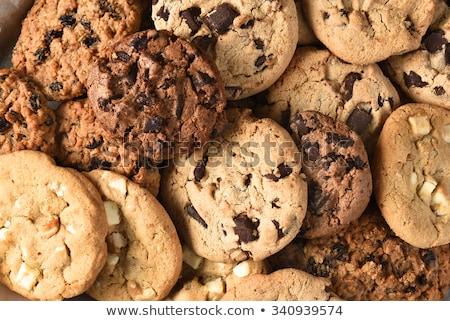 Cookies vidrio oscuro madera torta Foto stock © franky242