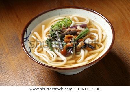 Japon · stil · çanak · gıda · çorba · ahşap - stok fotoğraf © varts