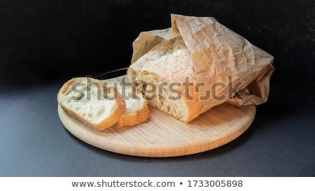 ぱりぱり パン 全粒粉パン クローズアップ ハードウッド ストックフォト © zhekos