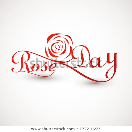Beautiful Rose day typography text for valentine week vector ill Stock photo © bharat