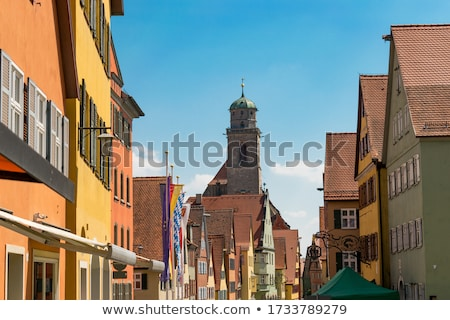 famous old romantic medieval town of Dinkelsbuehl in Bavaria, Ge Stock photo © meinzahn
