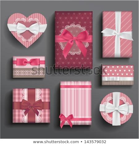 boeg · vector · geschenkdoos · lint · liefde · gelukkig - stockfoto © vectorpro
