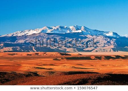 Hegyek atlasz terjedelem Marokkó hó Stock fotó © meinzahn