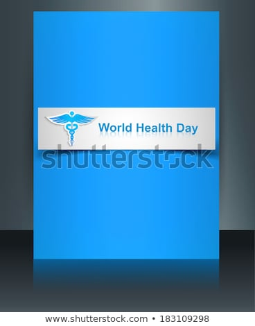 Caduceus medical symbol brochure beautiful World health day temp Stock photo © bharat