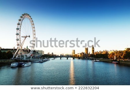 london england the uk skyline london eye big ben river thames stock photo © photocreo