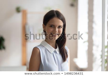женщину профиль изолированный студию голову выстрел Сток-фото © dgilder