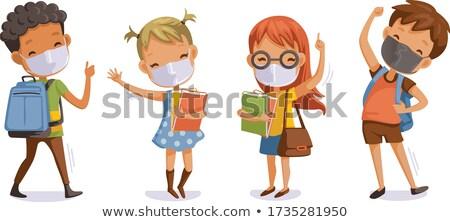 Back to School. Little schoolchild, vector illustration Stock photo © carodi