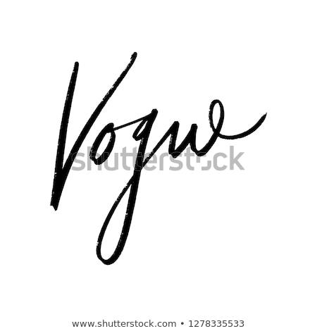 Vogue Stock photo © Novic