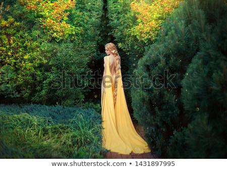Stock photo: elf princess in green garden