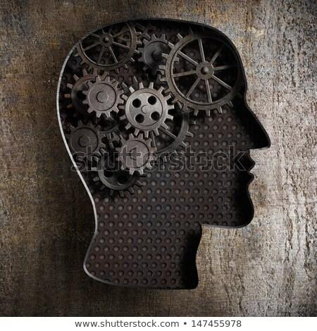 Brain Storm on the Metal Gears. Stock photo © tashatuvango