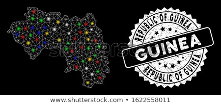 Map of Republic of Guinea with Dot Pattern Stock photo © Istanbul2009