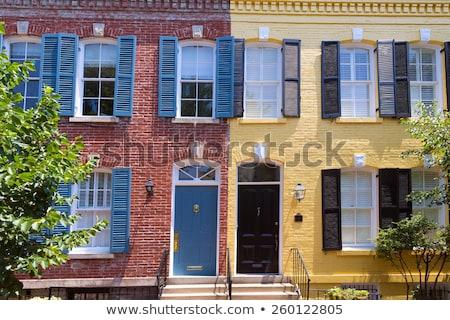 történelmi · kerület · Washington · Washington · DC · USA · ház - stock fotó © lunamarina