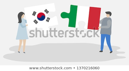 South Korea and Italy Flags in puzzle Stock photo © Istanbul2009