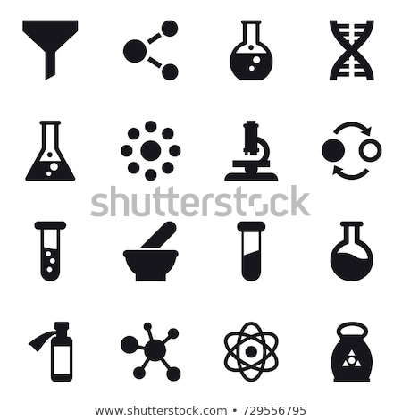 science icons silhouette stock photo © vectorikart