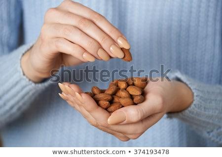 Handful almond Stock photo © Givaga