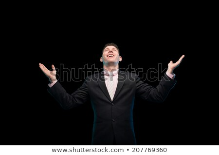 Cheering businessman with his arms raised up Stock photo © wavebreak_media