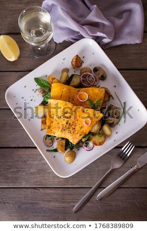 smoked fish hake fillet stock photo © klinker