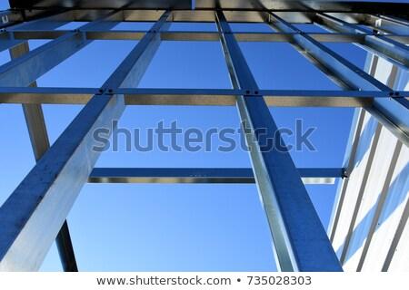 çerçeve inşaat depolama birim Bina kereste Stok fotoğraf © mybaitshop