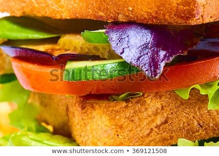 Sanduíche branco textura tabela trigo Foto stock © shutswis