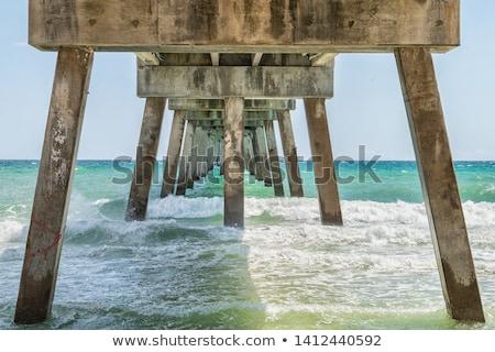 Pier Californië kust zomer zand golven Stockfoto © emattil