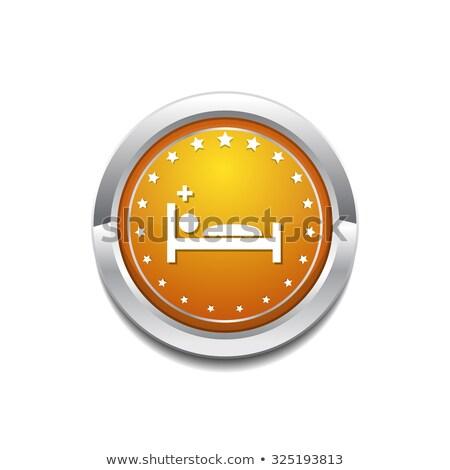Bakım yatak sarı vektör ikon düğme Stok fotoğraf © rizwanali3d