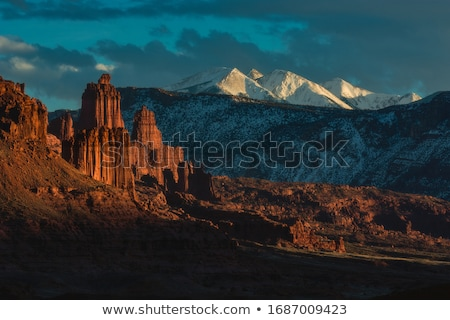 Balıkçı kule manzara towers çöl Utah Stok fotoğraf © pedrosala