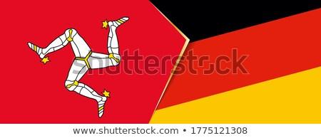 Duitsland man vlaggen puzzel geïsoleerd witte Stockfoto © Istanbul2009