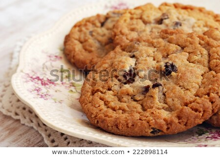Сток-фото: печенье · изюм · Cookies · вкусный · плетеный · чаши