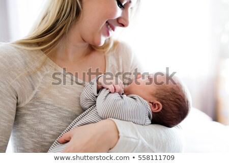 Baby boy and mommy Stock photo © igabriela