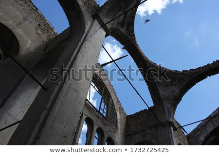 Inside of old ruined church Stock photo © amok