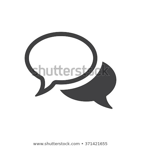 Szövegbuborék ikon illusztráció szimbólum terv felirat Stock fotó © kiddaikiddee