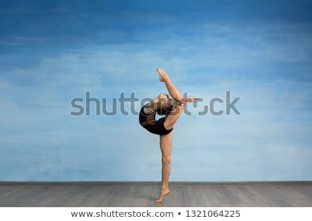 Gymnast girl in flexible back pose  Stock photo © fanfo