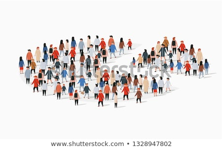 A pie graph with people Stock photo © bluering