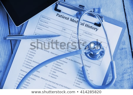 Foto stock: Personal Medical History Of The Patient Healthcare Concept