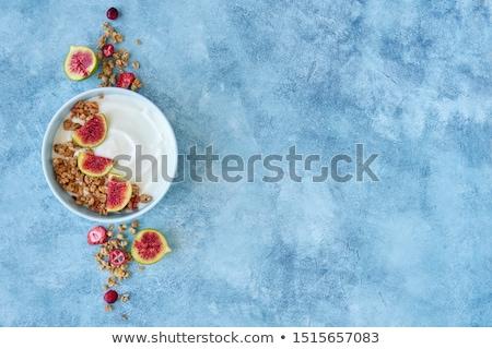breakfast with muesli,yogurt and fruit Stock photo © M-studio