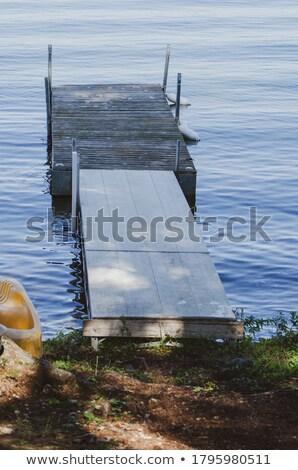 Dock on northern lake Manitoba Canada Stock photo © pictureguy