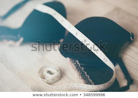 Zdjęcia stock: Woman Wearing Underwear With Tape Measure