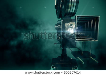 Vintage movie camera front Stock photo © berczy04
