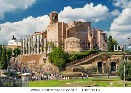 Temple of Venus and Roma in Rome Stock photo © boggy