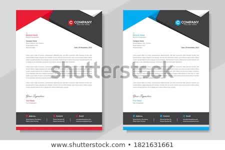 clean minimal letterhead design with blue shape Stock photo © SArts
