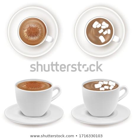 Ayarlamak farklı fincan kahve beyaz dizayn Stok fotoğraf © 7Crafts